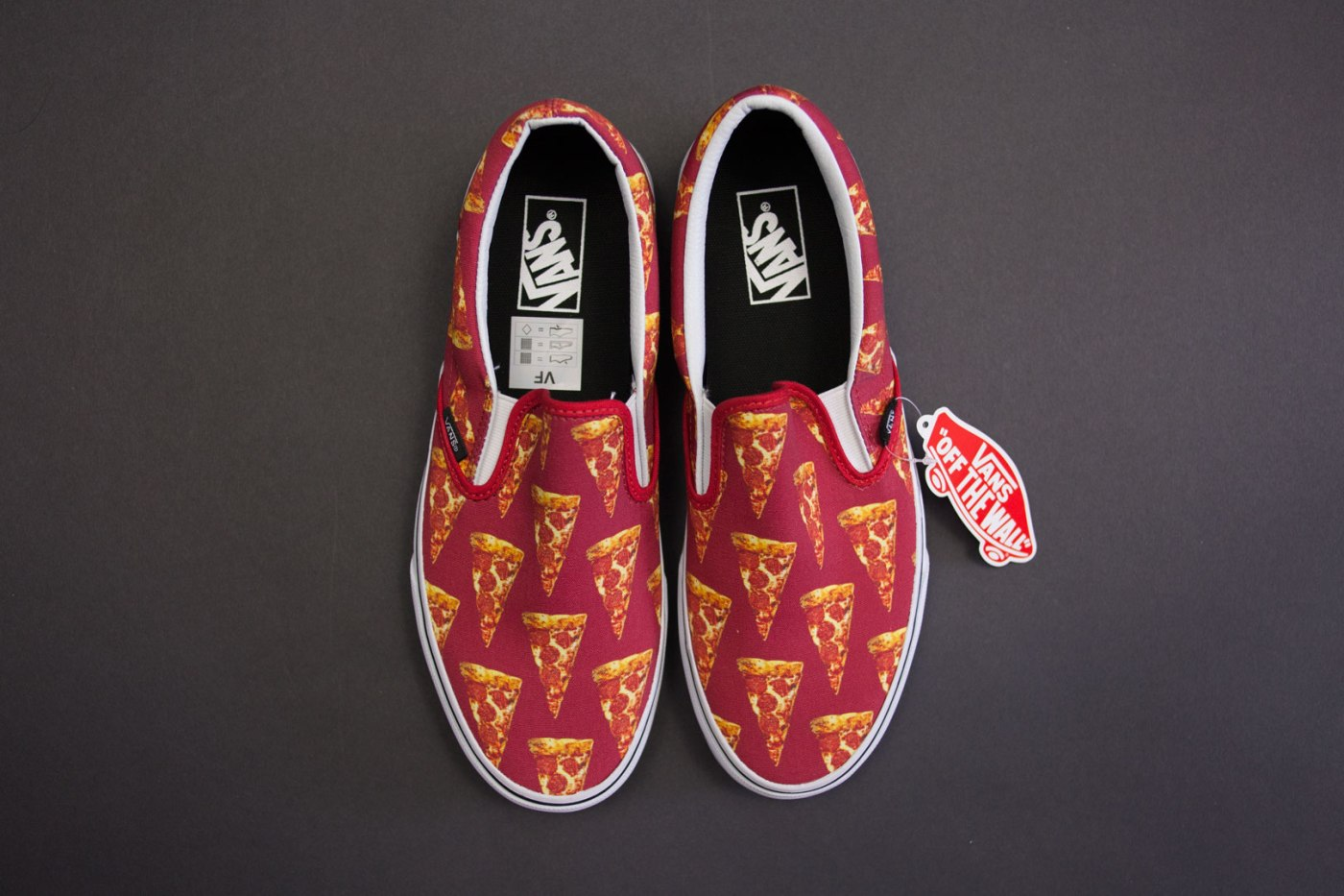 Vans Mars Red/Pizza Late Night Slip-On