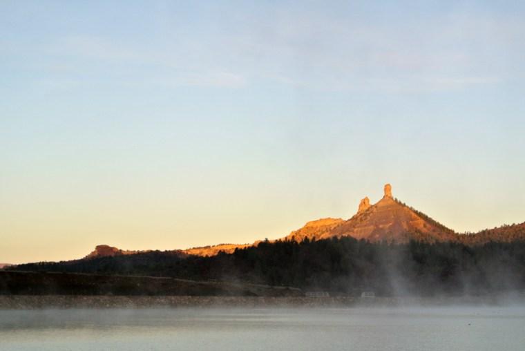 Chimney Rock National Monument, Crépuscule du matin (2)