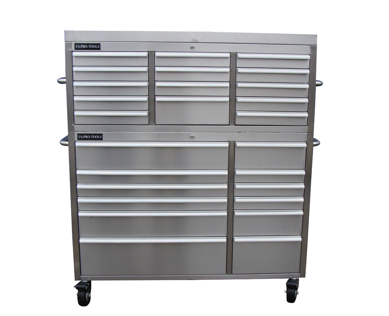 STAINLESS STEEL TOOL CABINET US PRO TOOLS 54 WIDE