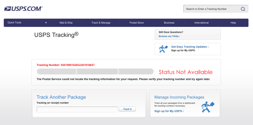 I parcel tracking not updating