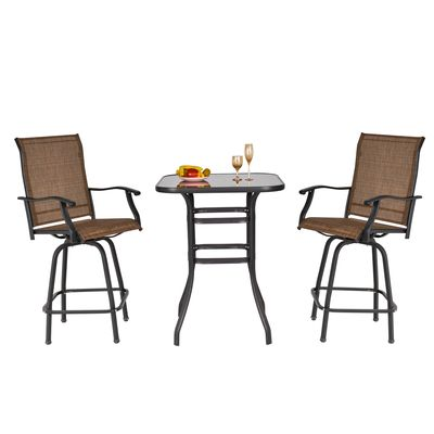 outsunny outdoor bistro set wicker