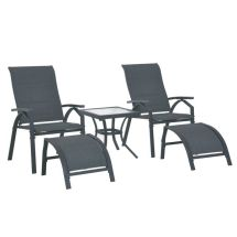 outsunny 5pcs outdoor sling bistro