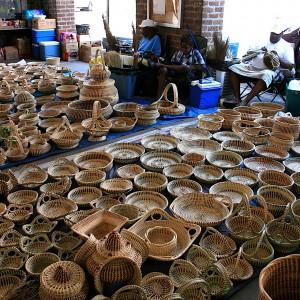 Sweetgrass Basket Vendor at Charleston City Market image