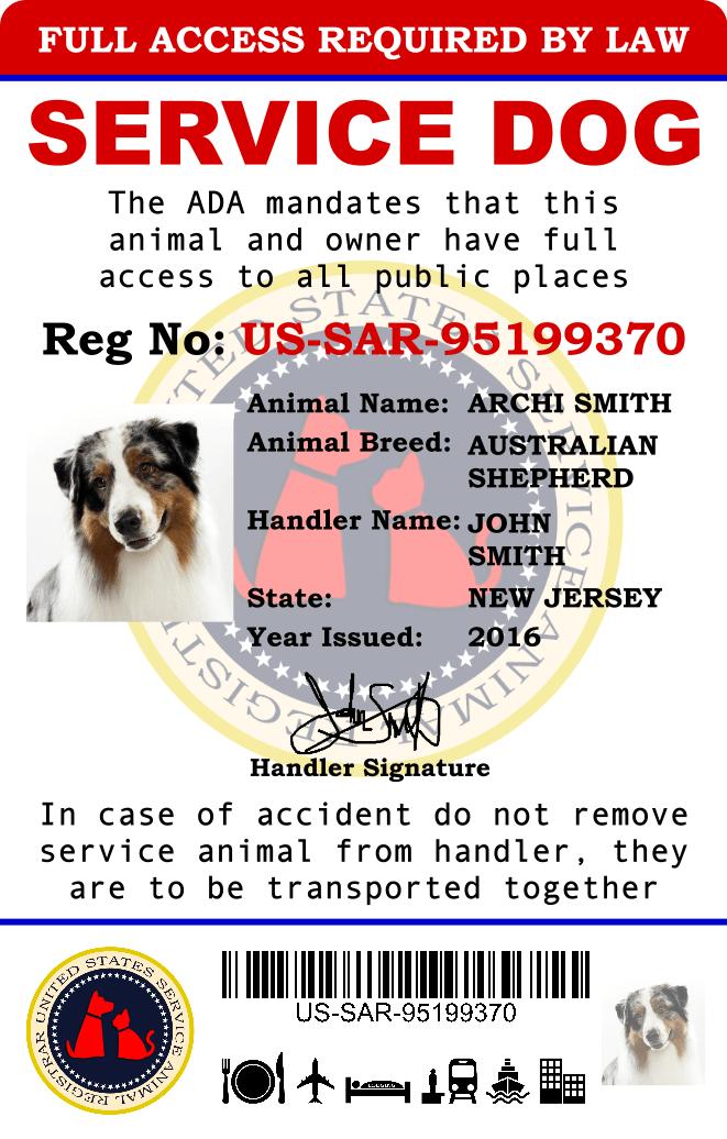 US Service Animal Registrar - Register Dog As Service Dog
