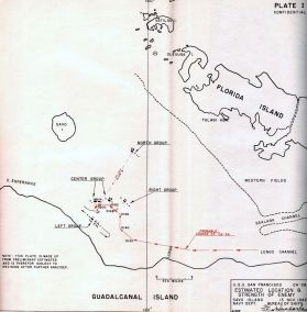 Map of Estimated Enemy Strength at Guadalcanal