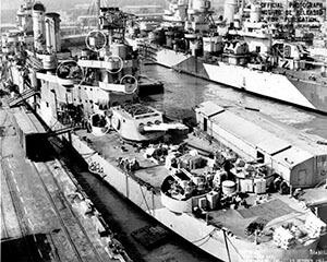 Overhaul at Mare Island 1944