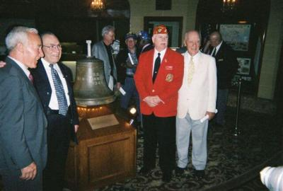 USS San Francisco Ship's Bell on Display