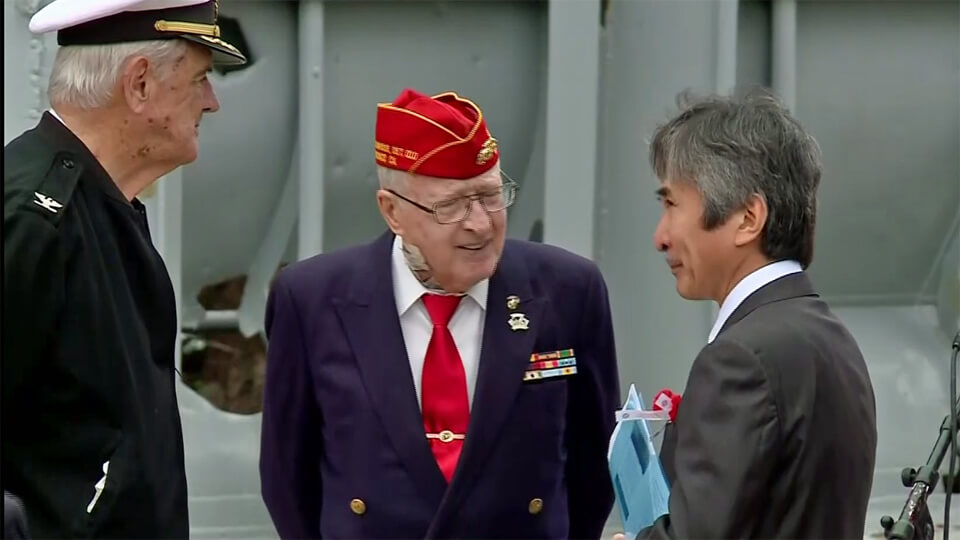 KCBS TV: Mourners Remember War Dead On The USS San Francisco