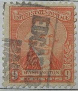 1932 Washington Bicentennial 9c