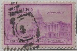 1950 DC Sesquicentennial 3c Bright Red Violet