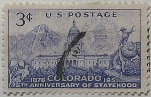1951 Colorado Statehood 3c