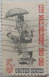 1963 City Mail Centenary 5c
