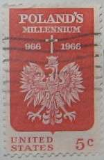 1966 Christianity in Poland Anniversary 5c