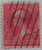1898 Washington 2c Carmine