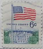 1968 Flag and White House 6c Large