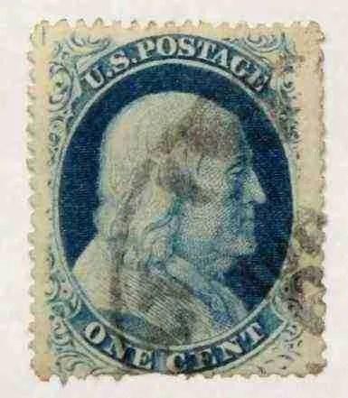1857 Franklin 1c - USC #3