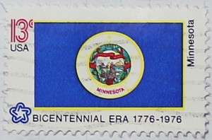 1976 Minnesota Flag 13c