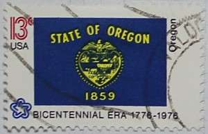 1976 Oregon Flag 13c