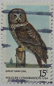 1978 Great Gray Owl 15c