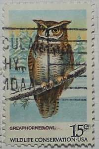 1978 Great Horned Owl 15c