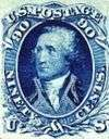 George Washington 90c blue