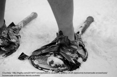Tennis Racquet Snow Shoes