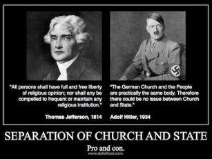 religion Separation church state hitler jefferson