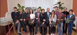 Sportowcy z Ustki nagrodzeni przez starostę słupskiego