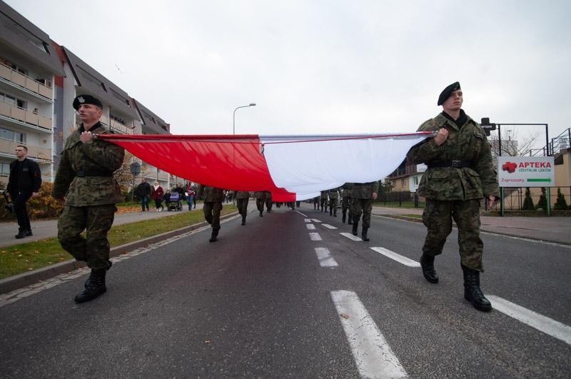 Ustczanie uczcili 100-lecie Niepodległości Polski - FOTO, WIDEO