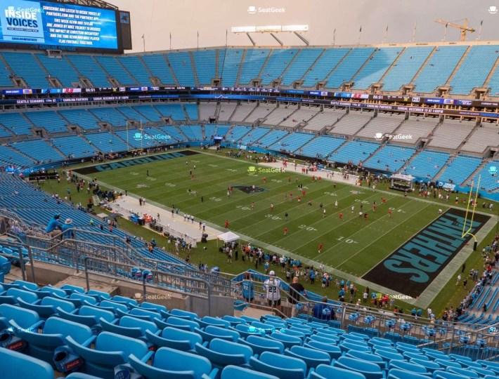 Bank Of America Stadium Section 536 Seat Views | Seatgeek throughout Miami Panthers Stadium Address