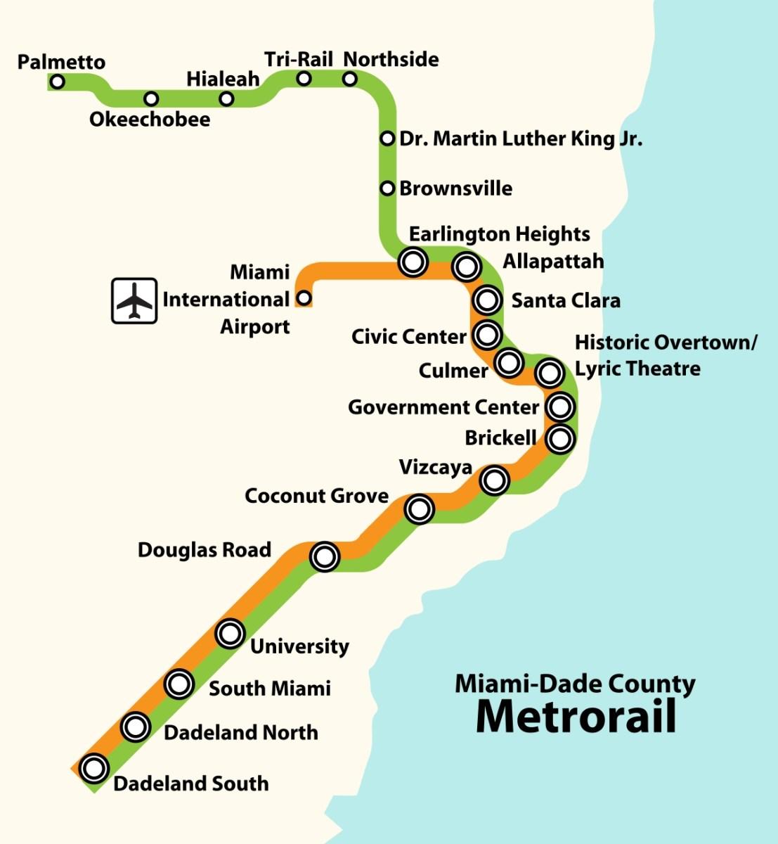 miami dade transit train map - ustrave