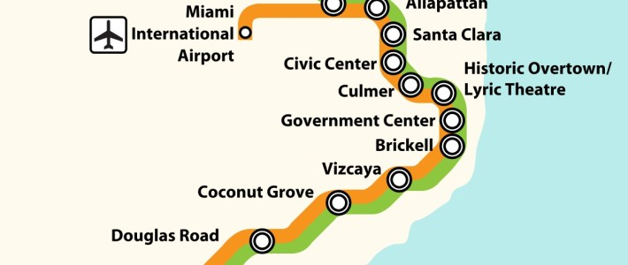 List Of Miami-Dade Transit Metro Stations - Wikipedia inside Miami Dade Transit Train Map
