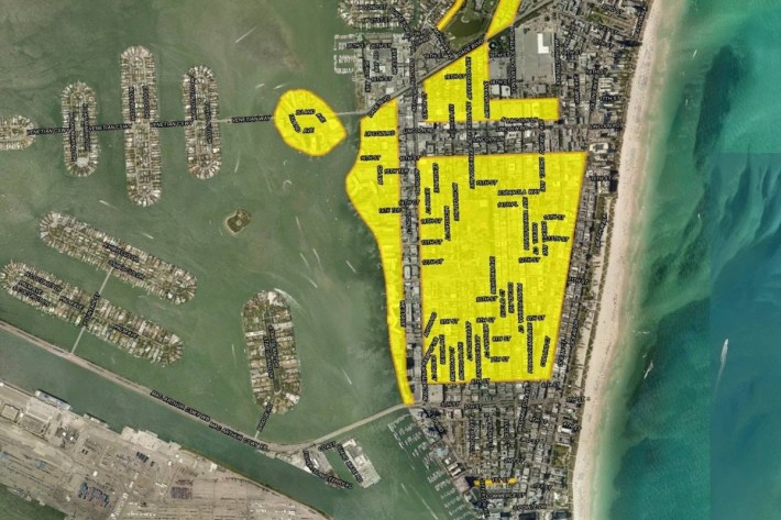 Miami Beach Map Shows Full Scope Of Roads That Will Be inside Miami Beach Flood Zone Map