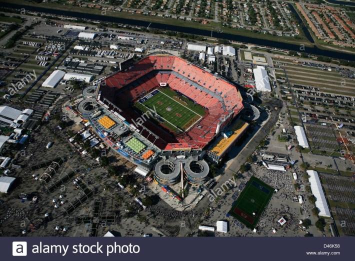 Sun Life-Stadion Miami Gardens Super Bowl 2010 New Orleans inside Super Bowl Miami Stadium