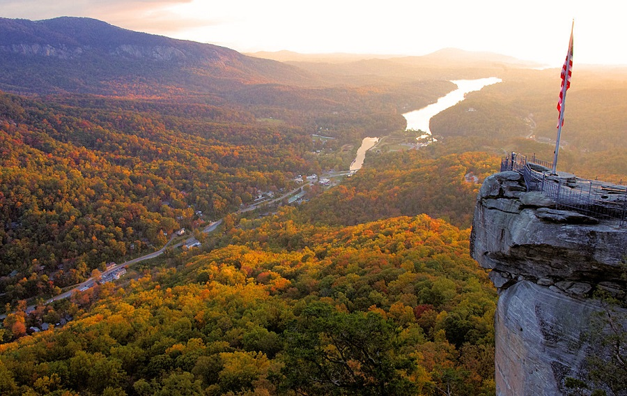 Looking Glass Falls Desktop Wallpaper Carolina Del Norte Un Estado De Postal Us Traveler