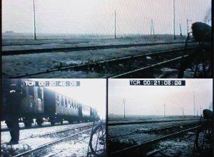 Domníváme se, že snímky obsahují záběry z železniční stanice Křimov. Film Tátova škola, Karel Němec, 1963