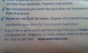WaterWipes cleansing wipes ingredients