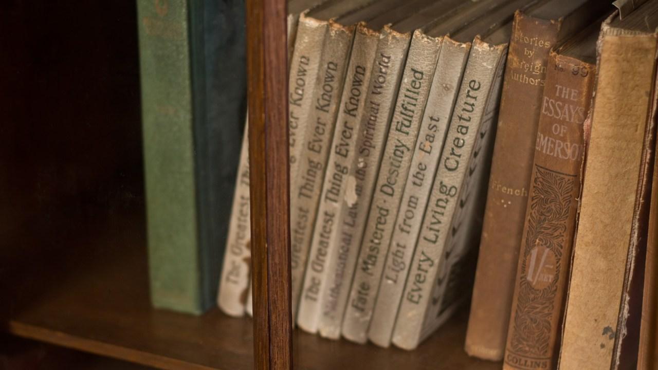 本棚にしまってある洋書