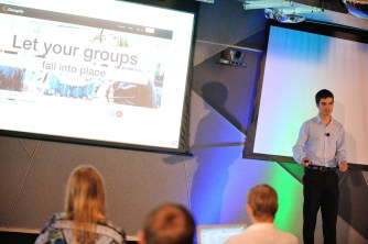 Groupify co-founder, Ivan, pit chest their group learning tool