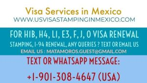 US H1B Visa Stamping in Matamoros Mexico | Visa Application