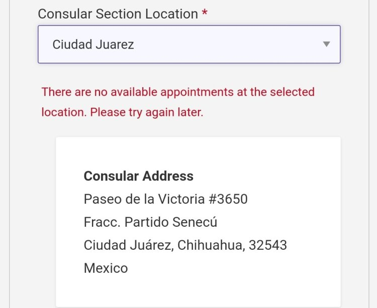 Current Visa Appointment Interview Dates Availability in Mexico 2021 9 Mexico US Visa Stamping Visa Info H1B Appointment