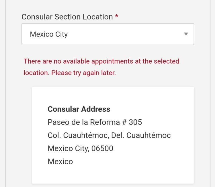 Current Visa Appointment Interview Dates Availability in Mexico 2021 1 Mexico US Visa Stamping Visa Info H1B Appointment