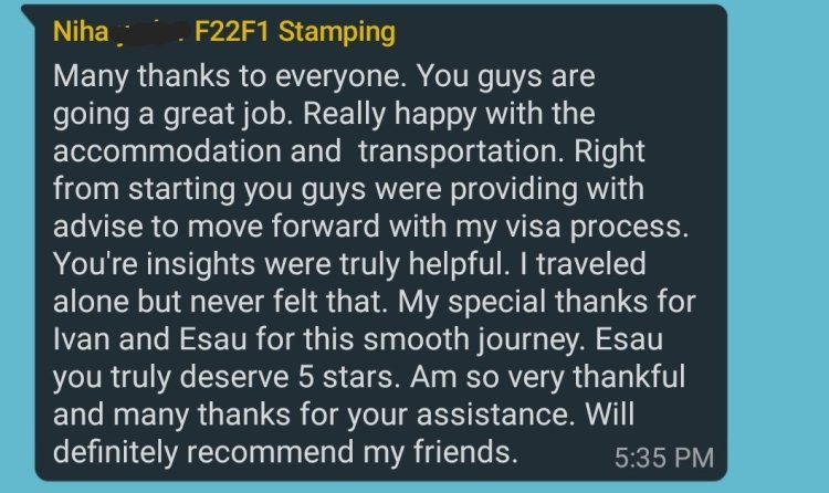 Reviews 12 Mexico US Visa Stamping Visa Info H1B Appointment