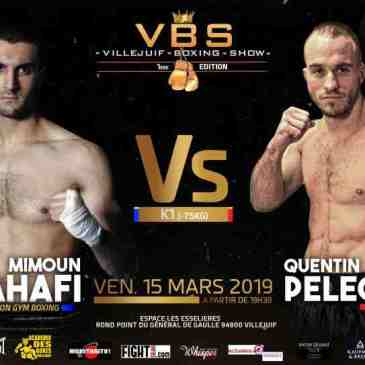 VBSVillejuif Boxing Show :Zahafi – Pelegrin, la relève en action