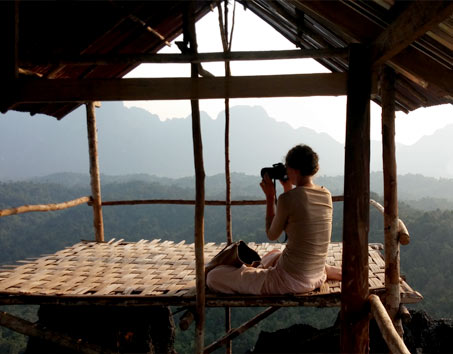 High up in Laos