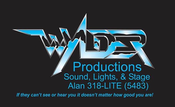 Wylder Productions sound, lights, stage logo
