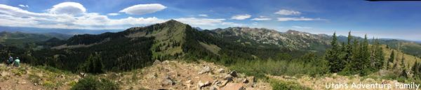 This is a panoramic picture I took. It shows slightly more than half of the 360 degree view that you have on the top.