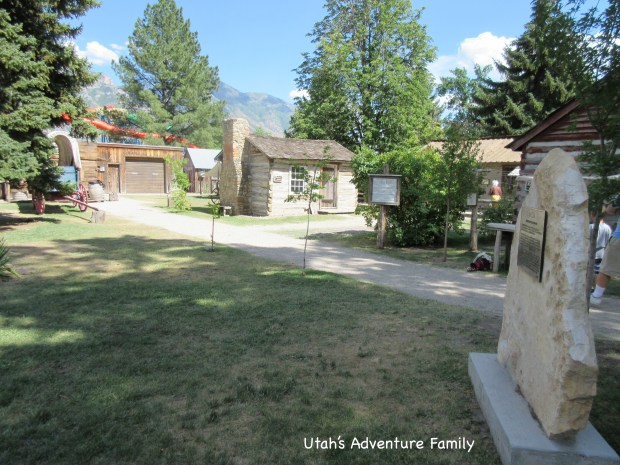 The village is set up to look like pioneer times.