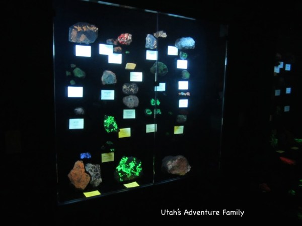 Glowing minerals--the picture doesn't do justice.