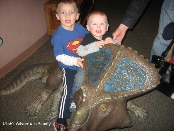 Just being silly with the Triceratops!